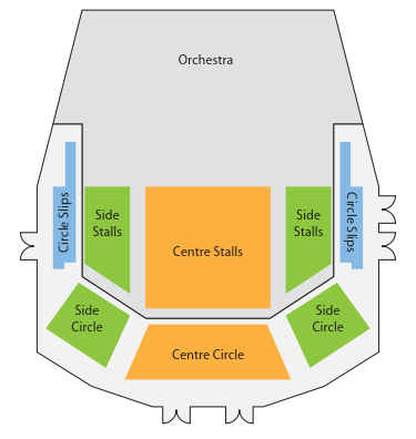 Plan of eating areas