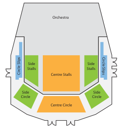 Plan of seating areas