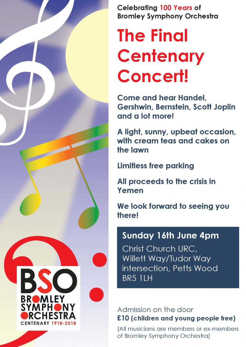 Concert 16th June at 4pm, Christ Church Petts Wood BR5 1LH