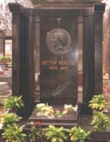 Berlioz grave in the Cimetiere de Montmartre still tended over 130 years after his death